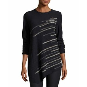 Nic + Zoe Small Dark Blue Shooting Stars Sweater